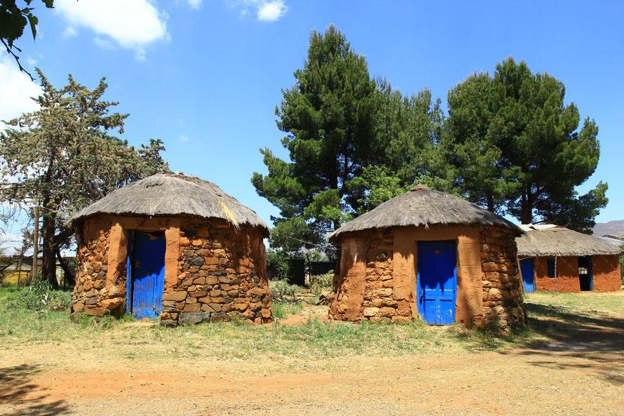 Huttes traditionnelles du Lesotho