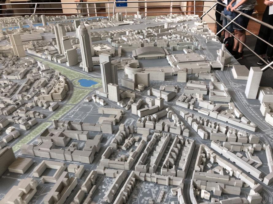 Stadtmodell von Frankfurt