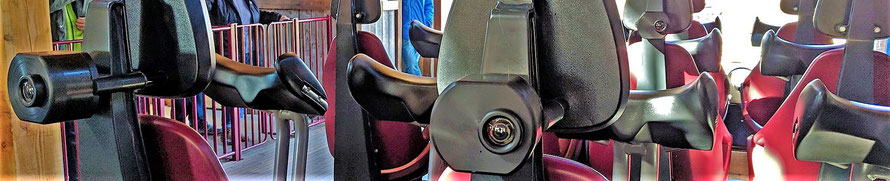 'Gold Rush' is de allereerste triple-launch-coaster in Nederland met een camerasysteem, waarmee bezoekers zich zelf na afloop van de rit terug kunnen zien tijdens een rit in achtbaan 'Gold Rush'. Voorganger 'Looping Star' had 'Emotioncam'.