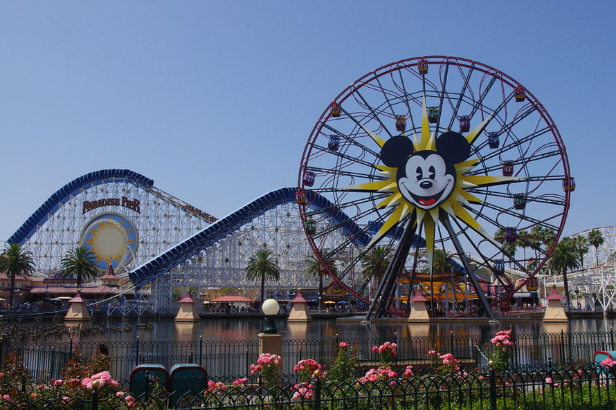 California Adventure Roller im Disneyland Anaheim in Kalifornien (USA)