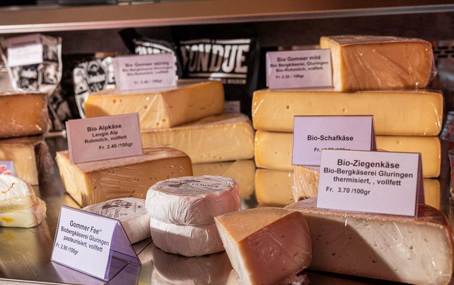 Bürli-Schiirli, Bauernhof Wallis, Käse, Hauswurst, Trockenfleisch, Brot, Bauernzopf, Eier, Konfitüre, Geschenkverpackungen