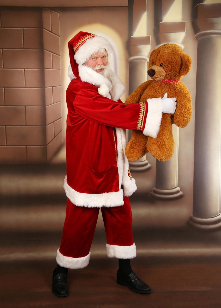 Berliner Weihnachtsmann für privat, günstig, Berliner Norden. Echter Bart, gutes Kostüm, Berliner Norden.