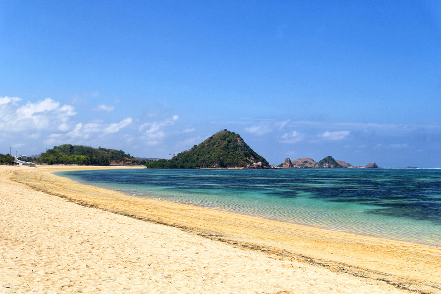 Der Kuta-Beach im Süden von Lombok