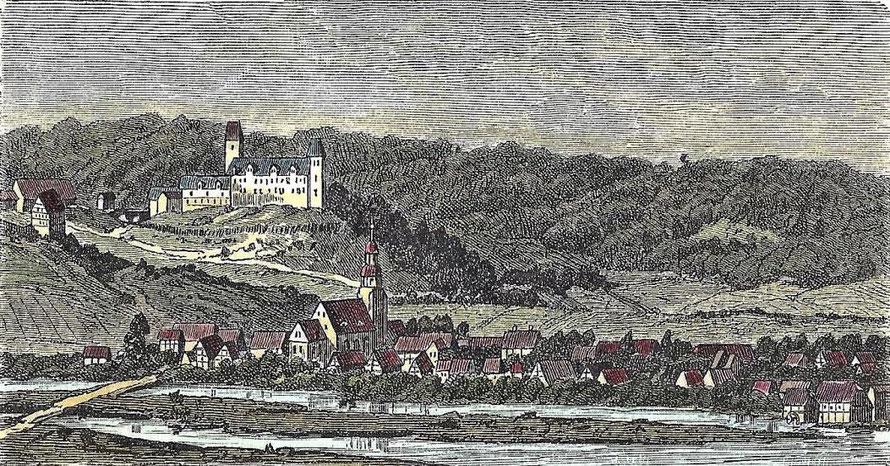 Holzstich von Greene um 1600. Archiv Heimatverin Greene