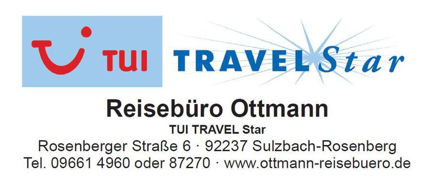 Reisebüro Ottmann im Kaufland und der Rosenbergerstrasse in Sulzbach-Rosenberg