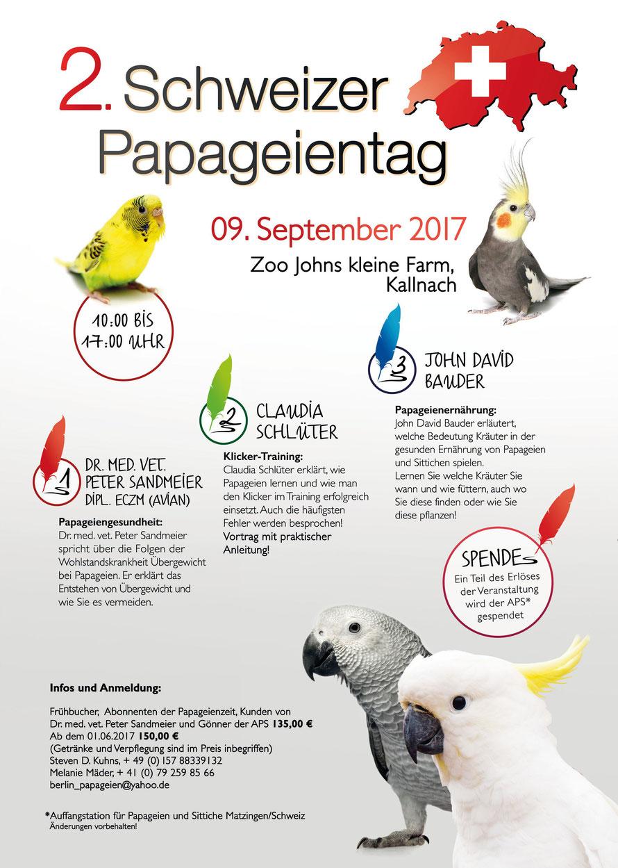 2. Schweizer Papageientag 2017 - papageien-berlins Webseite!