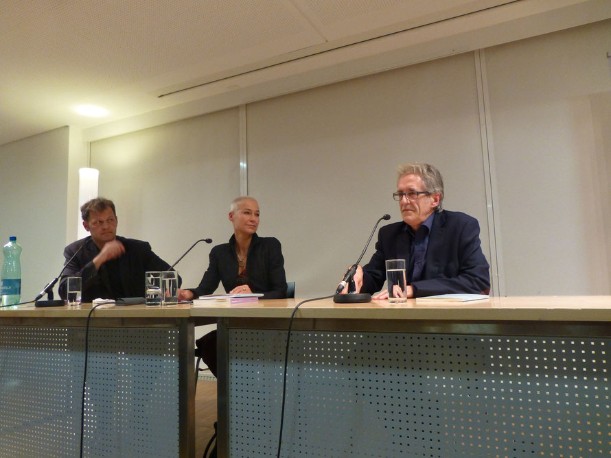 Hannes Benedetto Pircher, Anita Natmeßnig, Klaus Kufeld v.l. n. r.