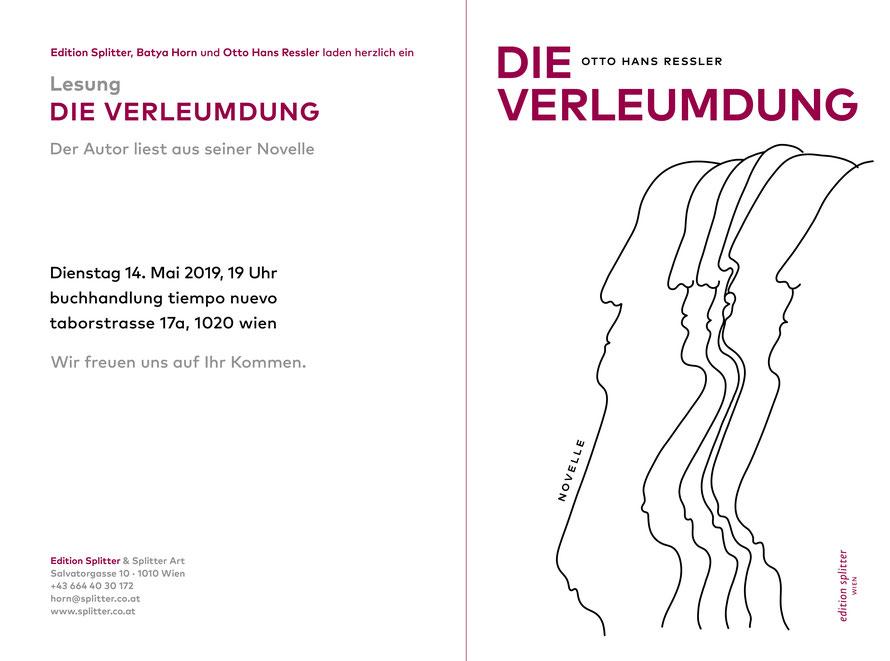 Buchpräsentation – DIE VERLEUMDUNG