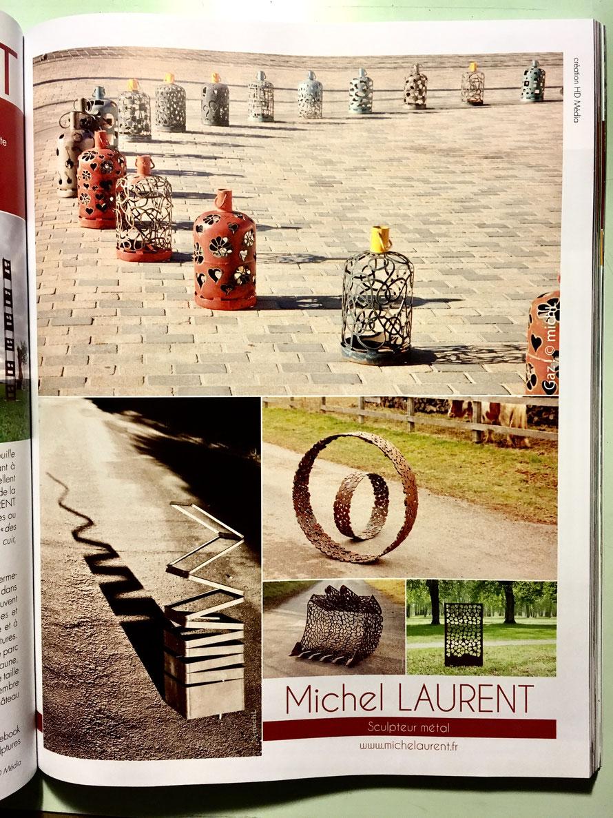 Michel Laurent créé des sculptures en acier pour les jardins, les parcs et les espaces naturels.