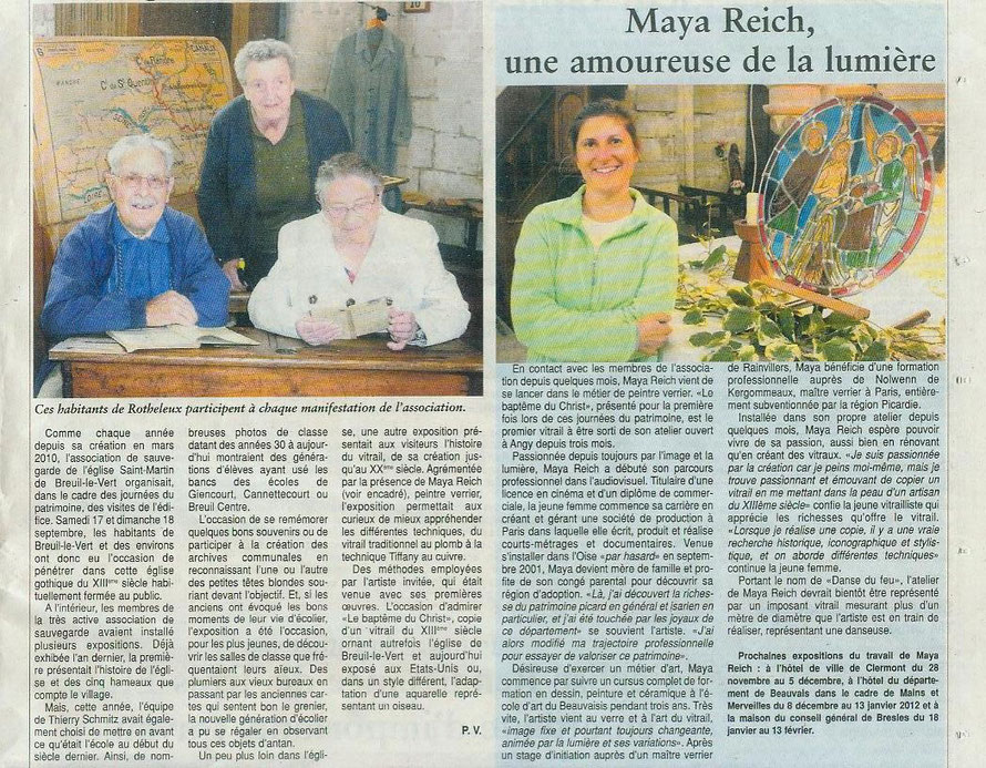 Association pour la sauvegarde de l'église Saint Martin de Breuil le Vert