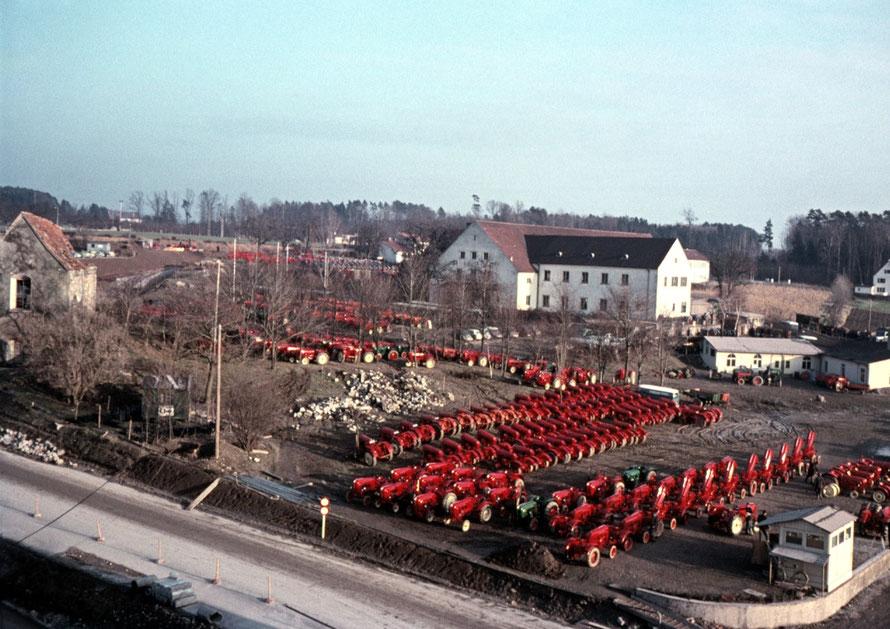 1954 Blick auf das Allgaier Werksgelände in Friedrichshafen-Manzell