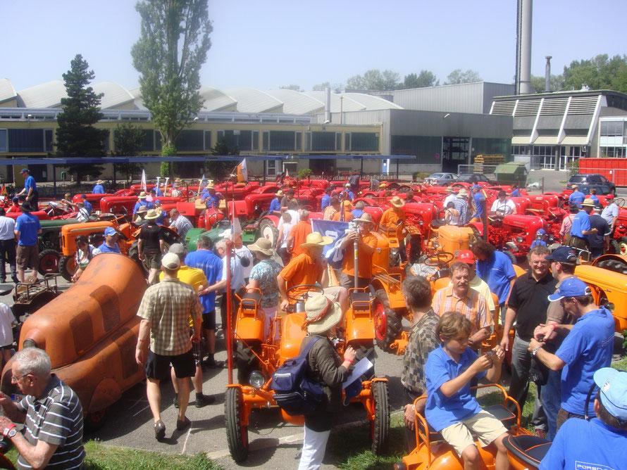 60 Jahre Porsche Traktor am Bodensee - Jubiläum auf dem Tognum-MTU Werksgelände