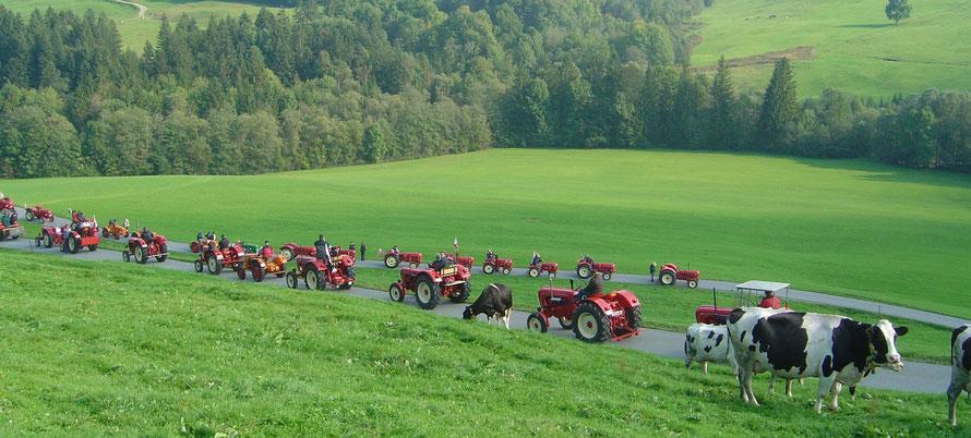 Porsche Traktor Ausfahrt im Allgäu