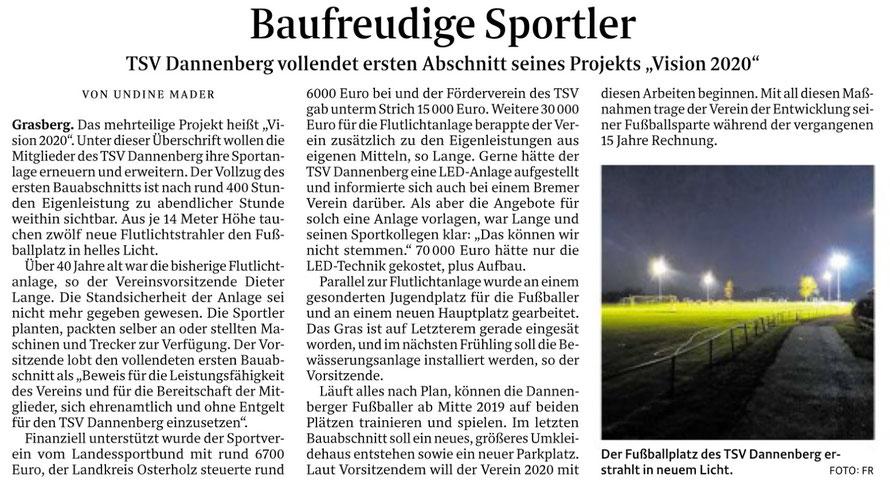 Quelle: Wümme-Zeitung vom 26.10.2018