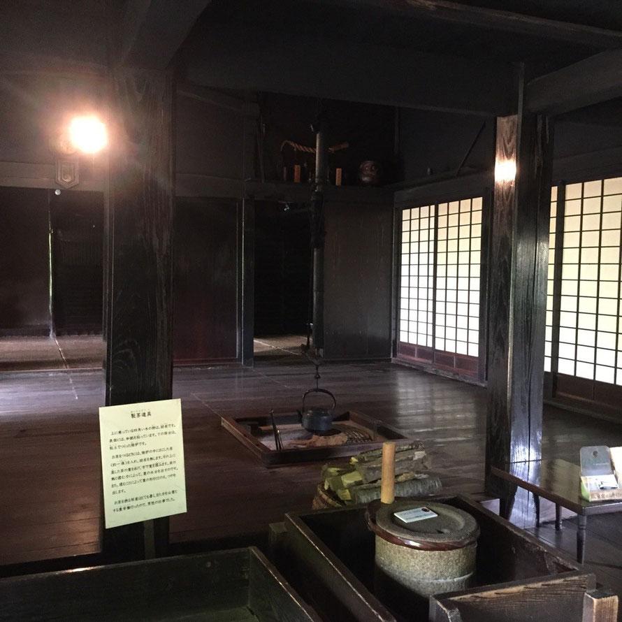 Inside of Old Shimoda Family House Tokyo Hamura historic tourist spot 旧下田家住宅 室内 東京都羽村市 国指定重要有形民俗文化財 羽村市郷土博物館 歴史 観光 スポット