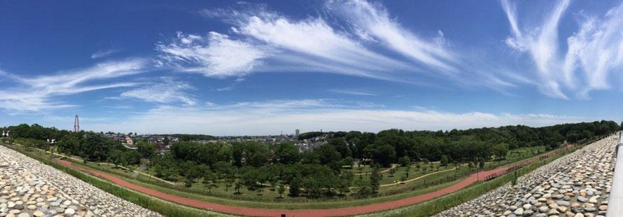Central Tokyo view from Lake Tama Tokyo Higashiyamato TAMA Tourism Promotion - Visit Tama 多摩湖から都心への景色 東京都東大和市 多摩観光振興会