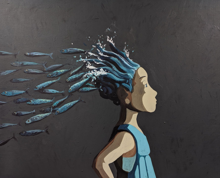 swarm - Acryl auf Leinwand, 80x100cm, 2019 | verkauft