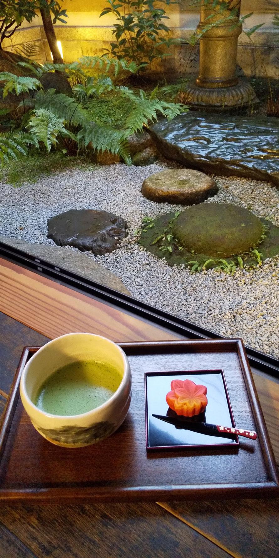抹茶(和束産)と主菓子