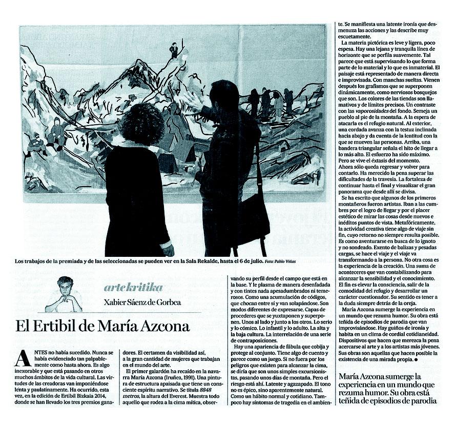 XABIER SÁENZ DE GORBEA MARIA AZCONA ERTIBIL ERTIBIL2014 DEIA