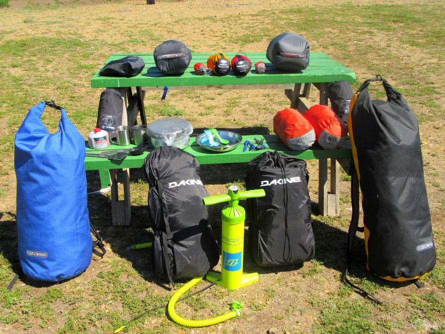 Ausrüstung für die Weltreise