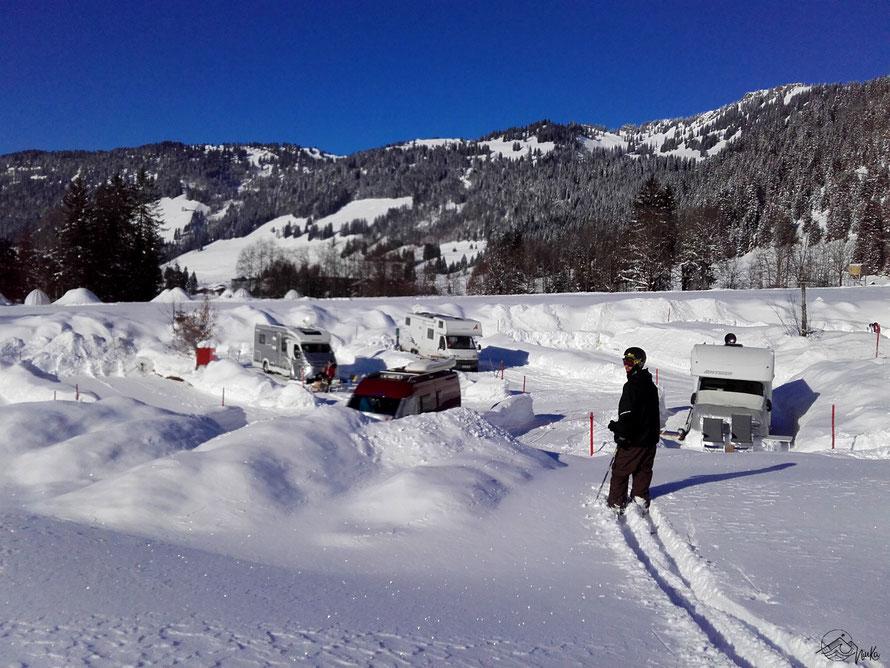 Vom Bett auf die Piste - Skifahren in Balderschwang