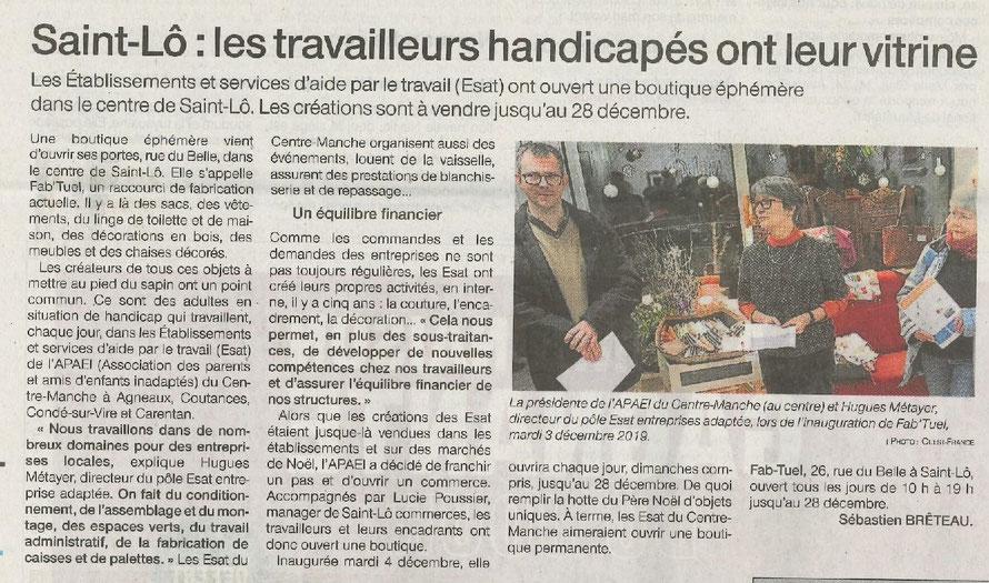 Article Ouest-France du 05 décembre 2019