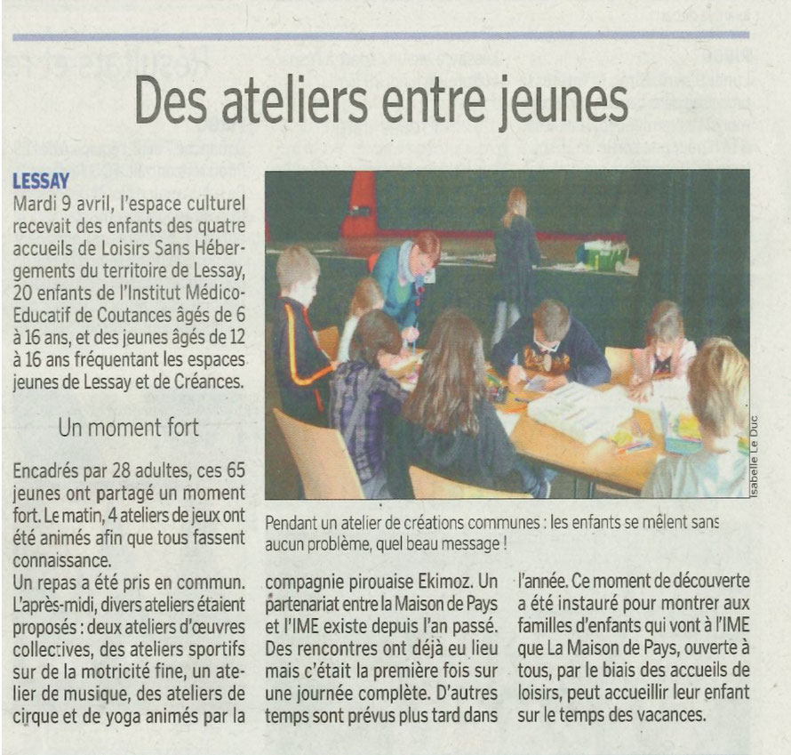 Article de la MANCHE LIBRE