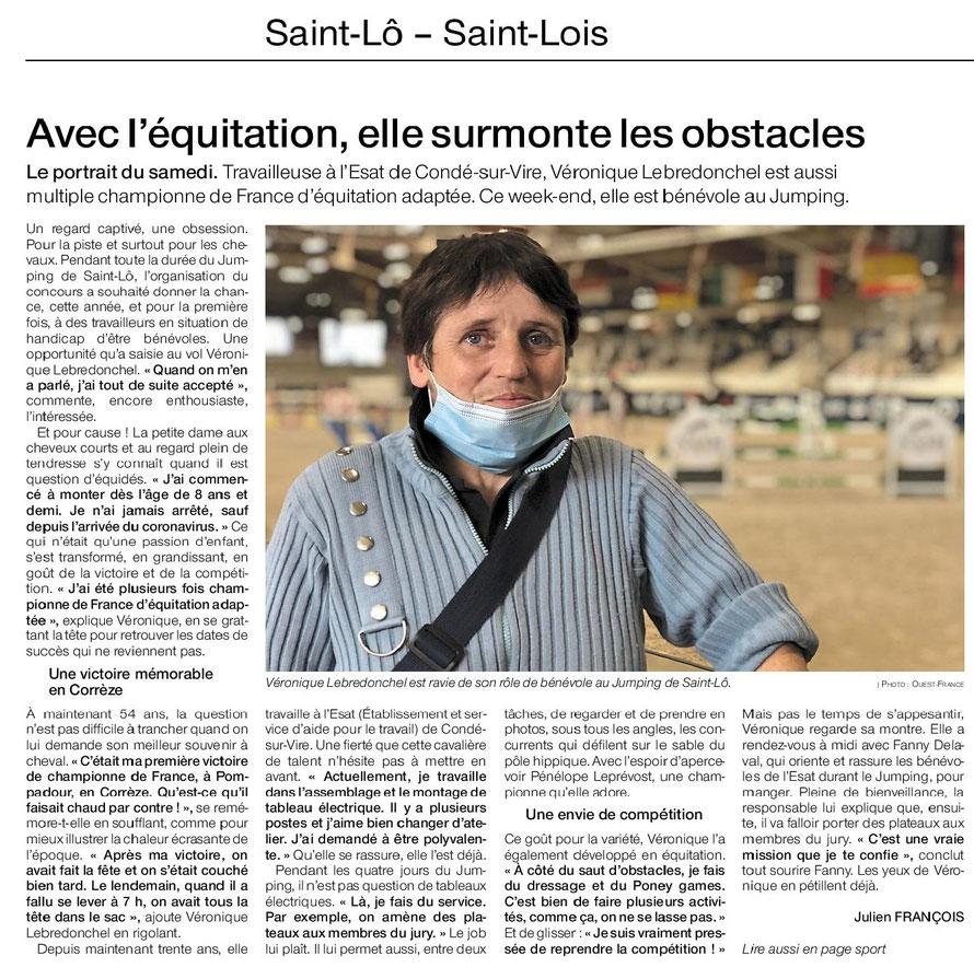 Ouest-France du samedi 31 Octobre 2020