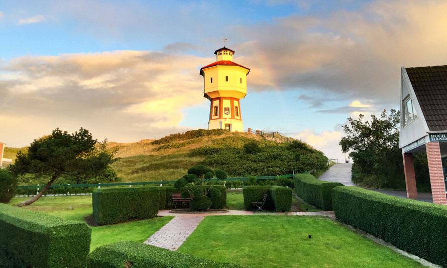Wasserturm auf der Insel Langeoog - Aufnahme Matthias Voss- Pension Friedrich Voss Langeoog