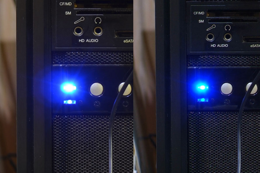 左:Nikon D5100 ISO100 f4.0 1/4秒  右:FinePix S3Pro ISO100 f4.0 1/2秒