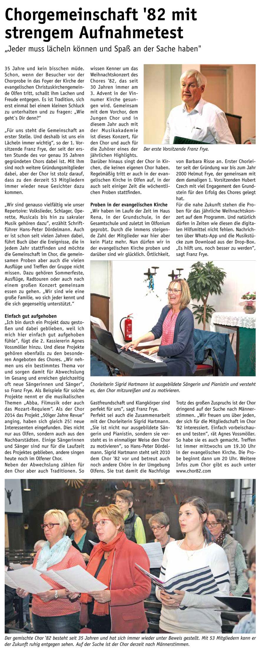 Foto: Olfener Staddtzeitung 2/2017