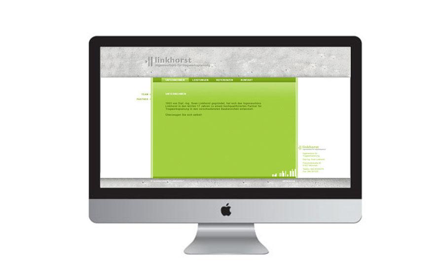 Die Internetseite des Ingenieurbüro Linkhorst