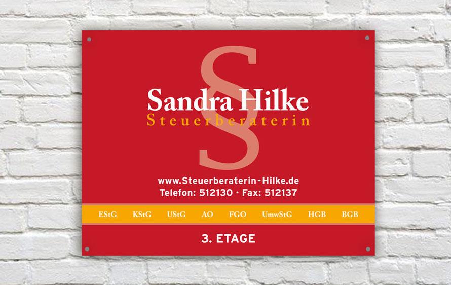 Beschilderung - Steuerbüro Hilke in Gotha
