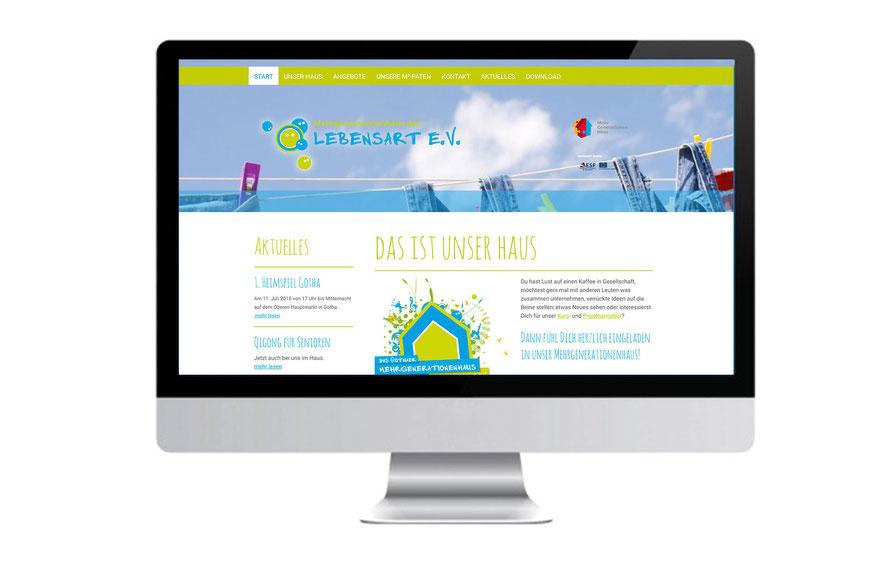 Internetseite für das Mehgenerationenhaus des Lebensart e.V. Gotha