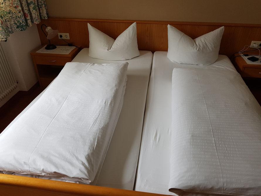 Verdiente Ruhe für müde Wanderer nach einem langen Abstieg: Die Betten im Gigele-Haus in Zams