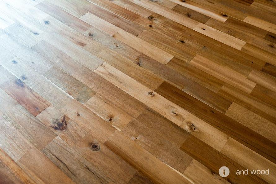 アカシア ユニ 120幅 施工写真 無垢フローリング アンドウッド andwood