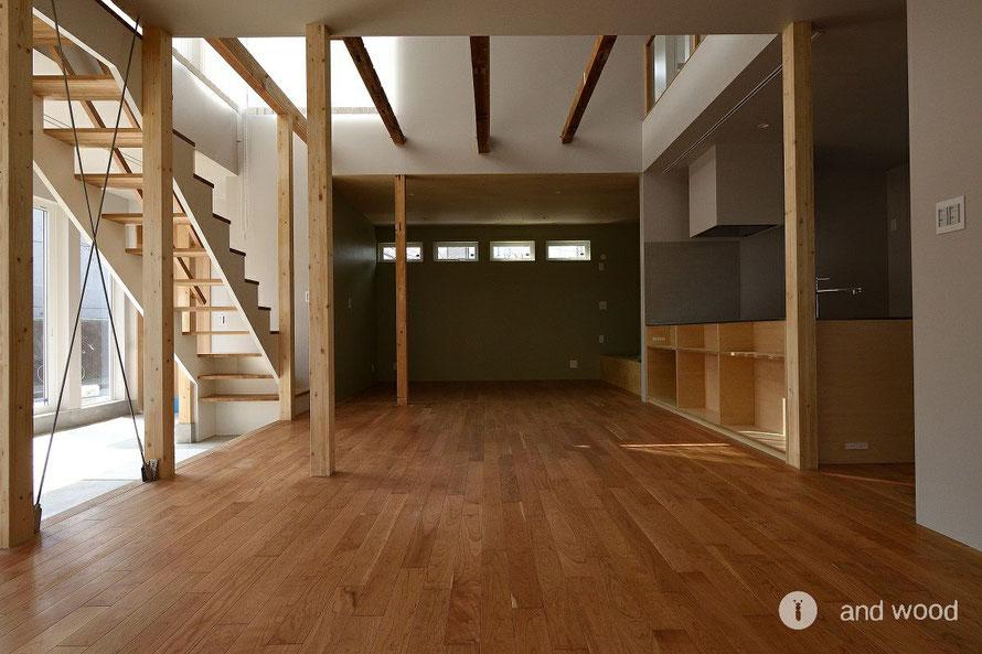 アメリカン チェリー フローリング 床暖房対応 施工例 andwood アンドウッド