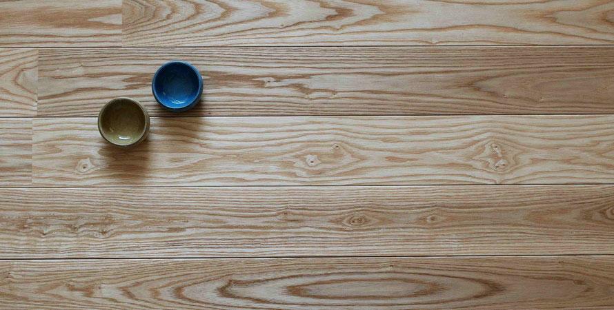 アッシュ ユニ 90幅 セレクト オイル塗装  無垢フローリング アンドウッド