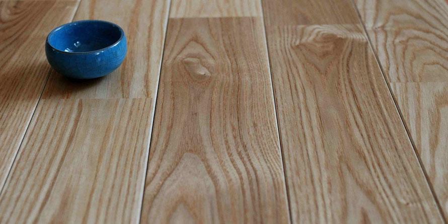 アッシュ ユニ 90幅 セレクト オイル塗装  無垢フローリング アンドウッド  andwood