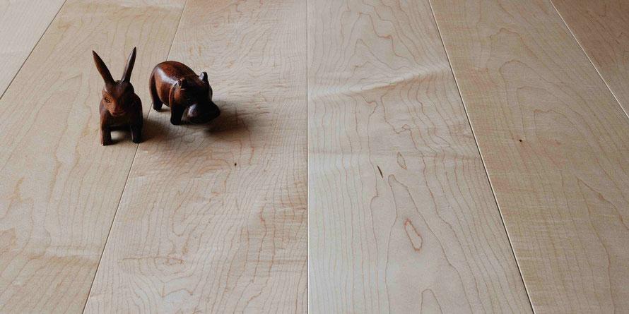 メープル 無垢フローリング 床暖房対応 150幅 オイル塗装 アンドウッド andwood 新潟