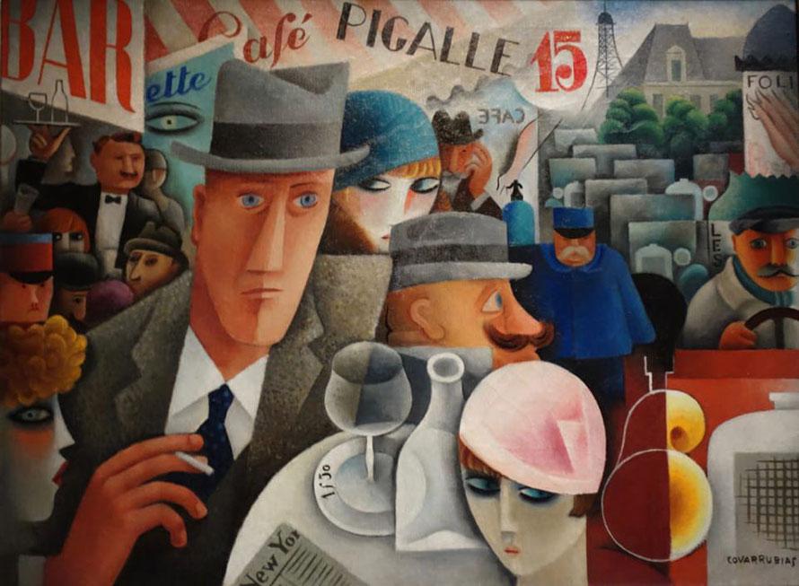 Miguel Covarrubias, 1929, George Gershwin, An American in Paris