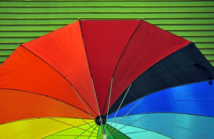 Regenbogen, Regenschirm, rainbow, umbrella