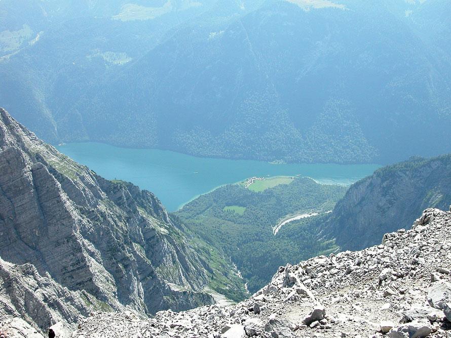 Blick aus der Watzmannostwand zum Königssee
