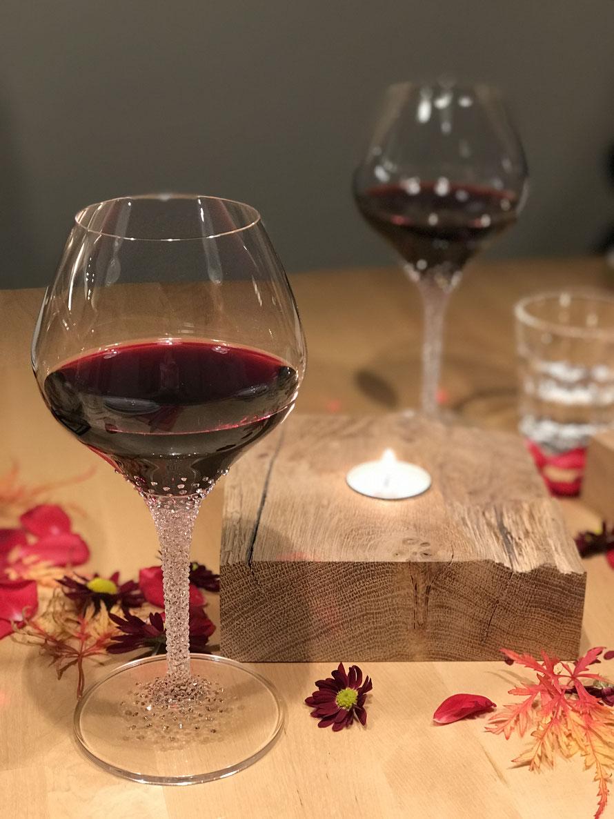 Weinglas Poseidon veredelt mit Swarovski Kristallen