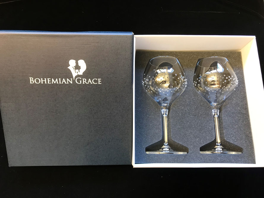 Verpackung Weinglas Hermes