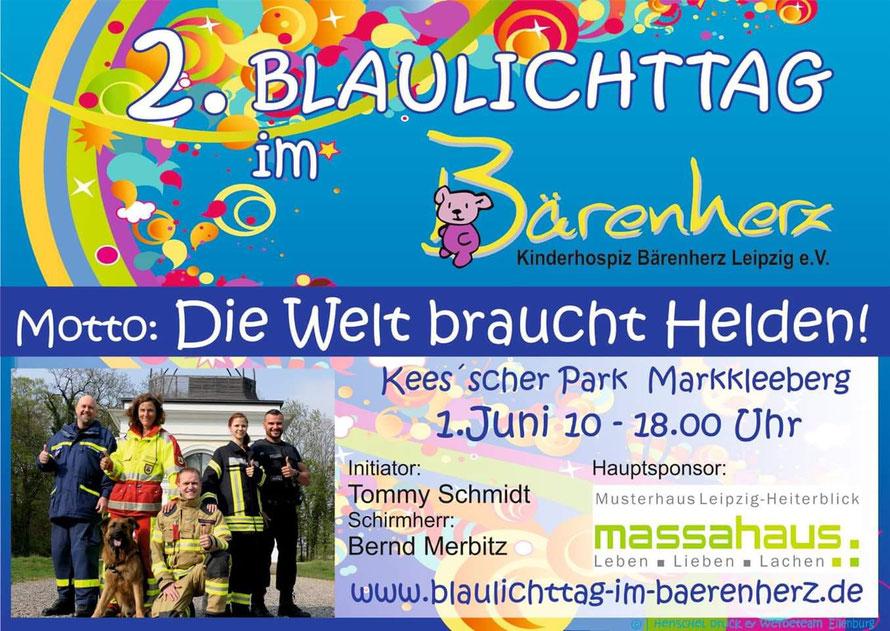 Plakat 2. Blaulichttag im Bärenherz