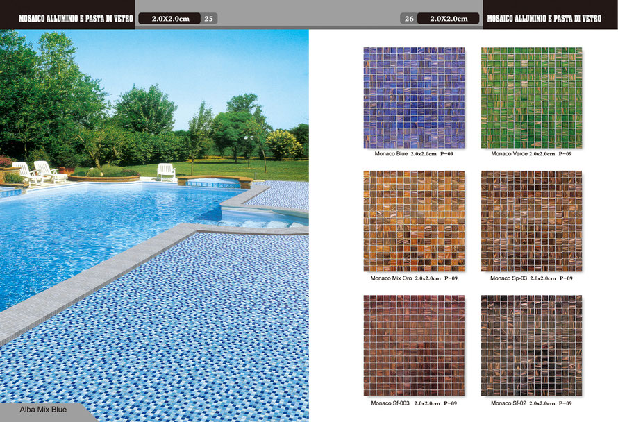 Mosaico mix blue