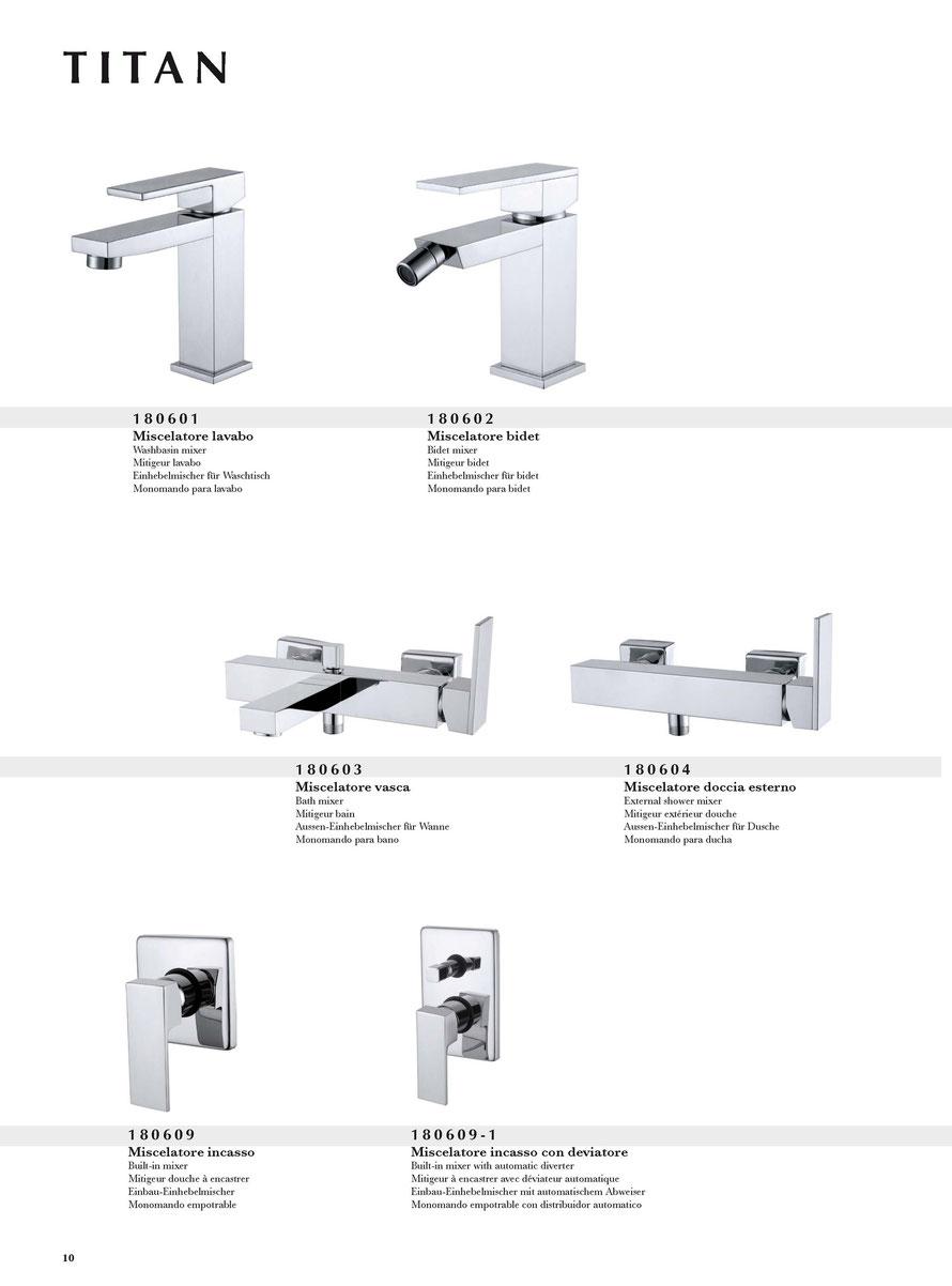 Miscelatori lavabo per bagno e doccia