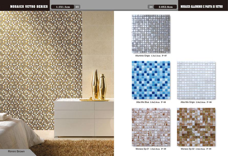 Mosaico alluminio