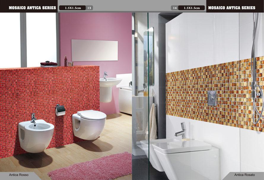 mosaico antico rosso e mosaico antico rosato